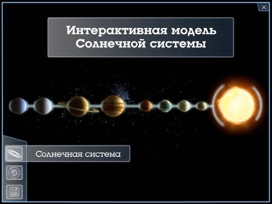 Интерактивная модель Солнечной
